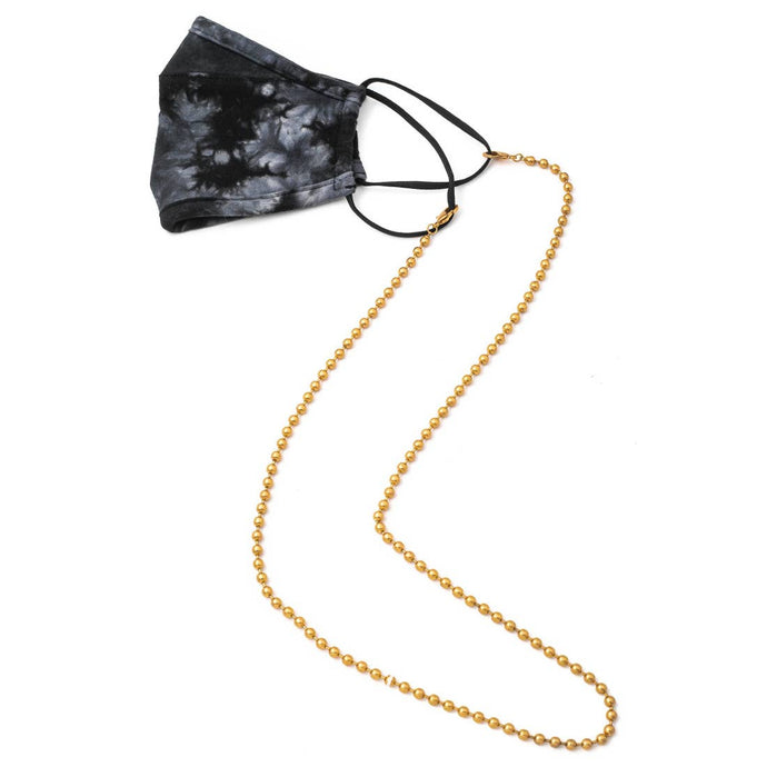 Long Metallic Ball Link Mask Chain