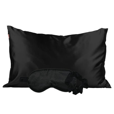 Satin Sleep Set - Black
