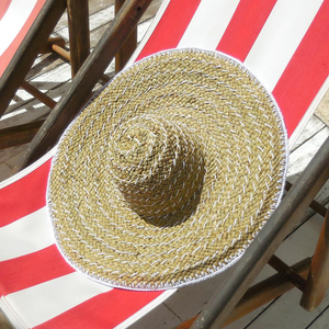 "Balinese ""Pecatu"" Wide Round Straw Hat - The ReKoop"