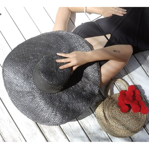 "Balinese ""Swasti"" Wide Round Straw Hat - The ReKoop"