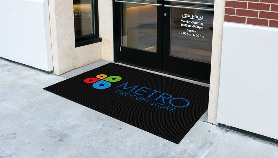 Outdoor rubber logo design mat