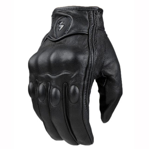 Sheepskin Leather Short Gloves
