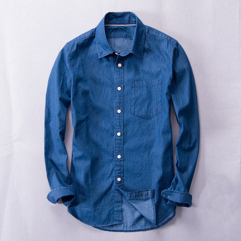 Denim Linen/Cotton Shirt
