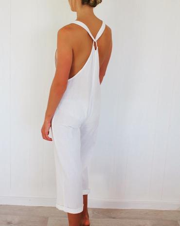 Indah Designs Jana Overalls in White