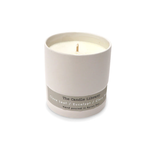 The Candle Library Clove Leaf / Eucalypt / Clary Sage Candle