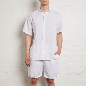 men's white linen shirt