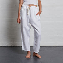 Load image into Gallery viewer, IN BED 100% Linen Pants in White