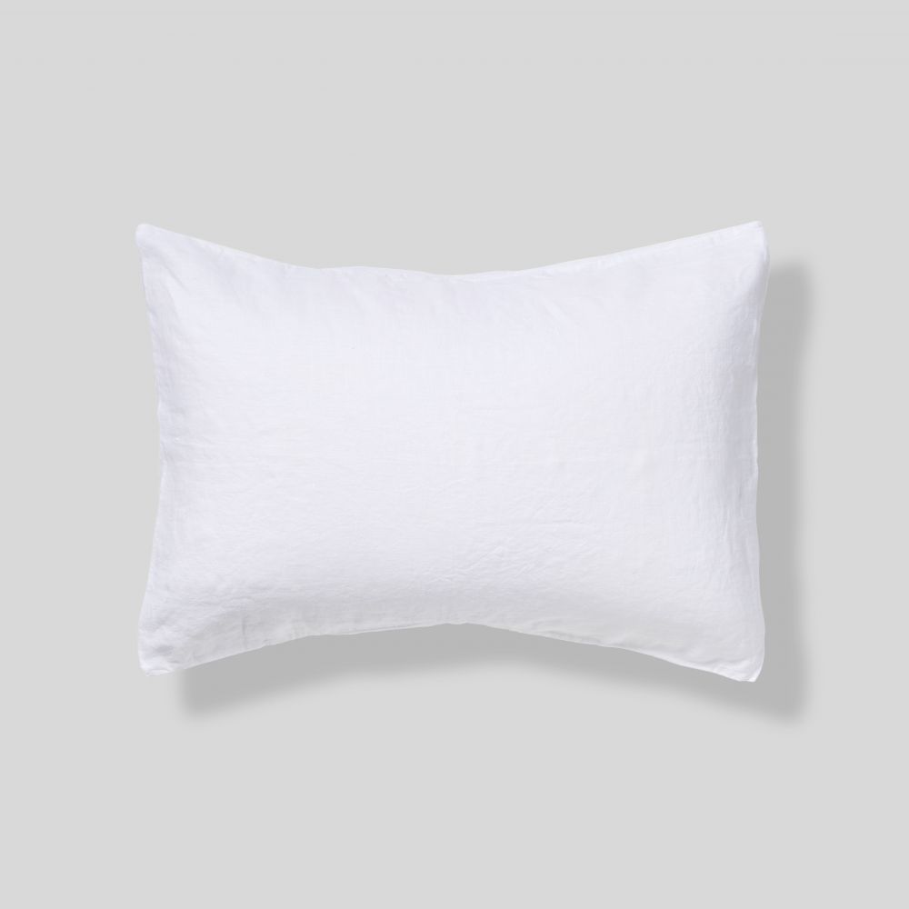 IN BED 100% Linen Pillowslip Set in White