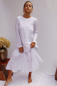 Women's White Maxi Dress
