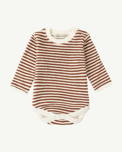 Summer & Storm Terry Body Long Sleeve Rust Stripe