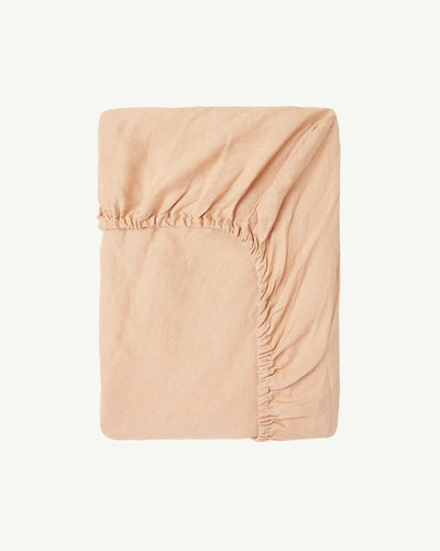 Summer & Storm Fitted Cot Sheet in Biscuit