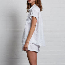 Load image into Gallery viewer, IN BED Short Sleeve Shirt in White