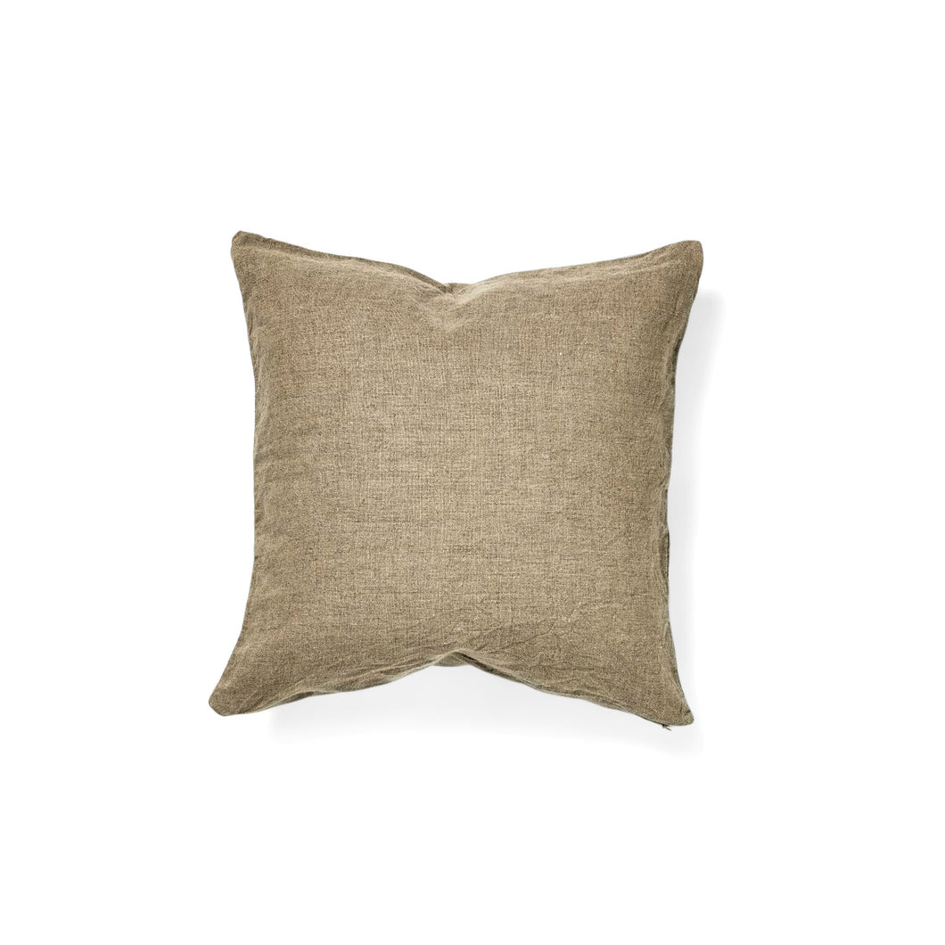 IN BED 100% Linen Square Cushion Cover in Natural