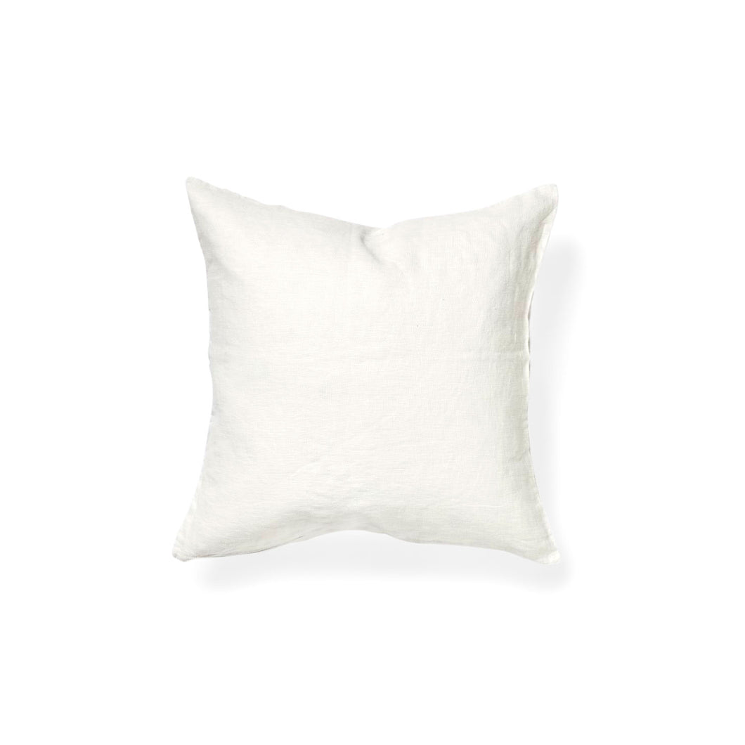 IN BED 100% Linen Square Cushion in White