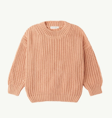 Summer and Storm Chunky Pullover — Coral