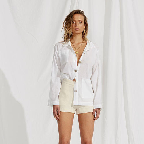 Maurie & Eve Thinking Bout You Top in Crisp White
