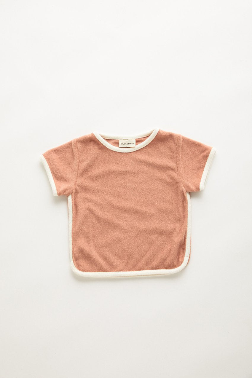 Zulu & Zephyr Mini Towel Tee — Terracotta