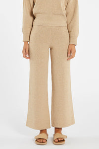Zulu & Zephyr Whitewash Knit Pant in Natural