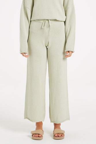 Zulu & Zephyr Relax Knit Pant — Cool Sage