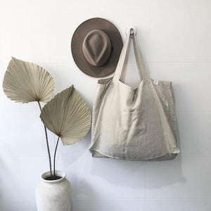 One Fine Sunday Co. The Weekender Linen Tote — Oatmeal