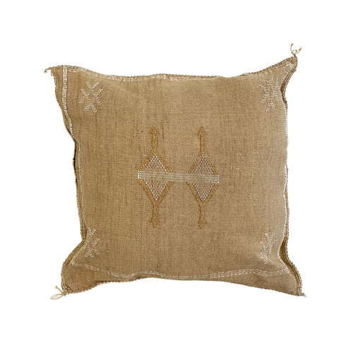 Moroccan Cactus Silk Cushion in Toffee
