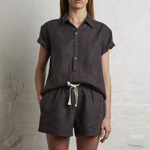 Load image into Gallery viewer, women's linen short sleeve shirts