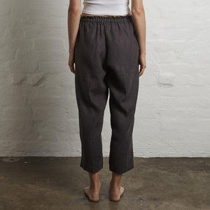 IN BED 100% Linen Pants in Kohl