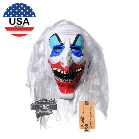 Halloween Clown Masks,Creepy Scary or Funny Clown Latex Mask for Costume party or Cosplay (Long nose clown Mask)