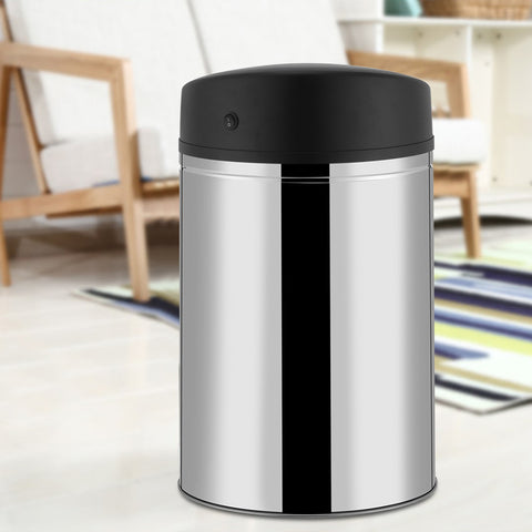 Automatic Sensor Dustbin Stainless Steel Sensor Trash Touchless Sensor Garbage Can Battery Powered
