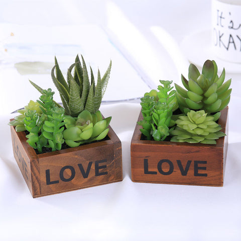 Artificial Plant Wooden Bonsai Home Decor Office Wedding Desk Car Office Desks