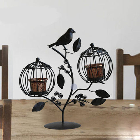 Candle Holder Retro Iron Candle Decoration Wedding Valentine Holiday