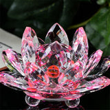 Crystal Lotus Crafts Glass Flower Miniatures Paperweight Table Ornaments Home Decoration Party Gifts Souvenir 8M16