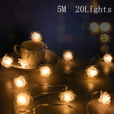 4*0.6M LED Strip Light Window Decor New Year  Holiday  Romantic Wedding Party Home Fairy Lights