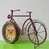 American Country Iron Bicycle Wall Clock Decor Living Room Home Gift
