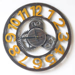 OUTAD Vintage Industrial Wind Gear Wall Clock Fashional For Living Room Bedroom Wall Decor Saat Home Watch Wall Gift