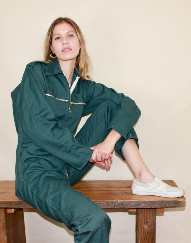 Dark Sea-Green Flight Suit