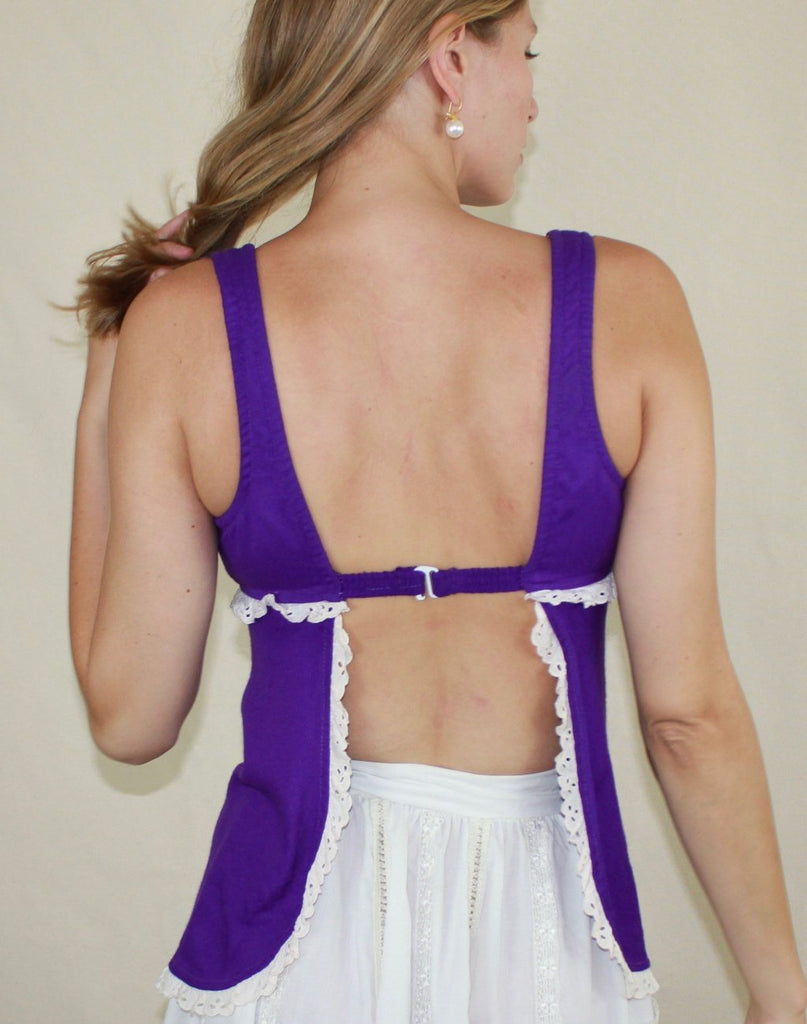 Purple Backless Tank