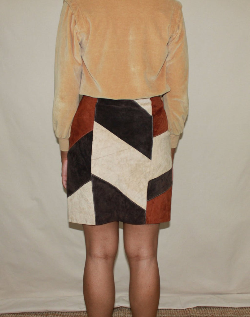 Neutral Patchwork Skirt