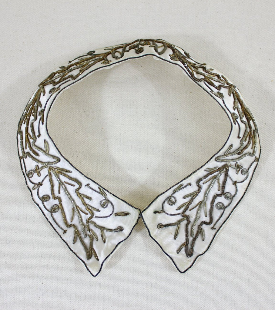 Embroidered Satin Collar