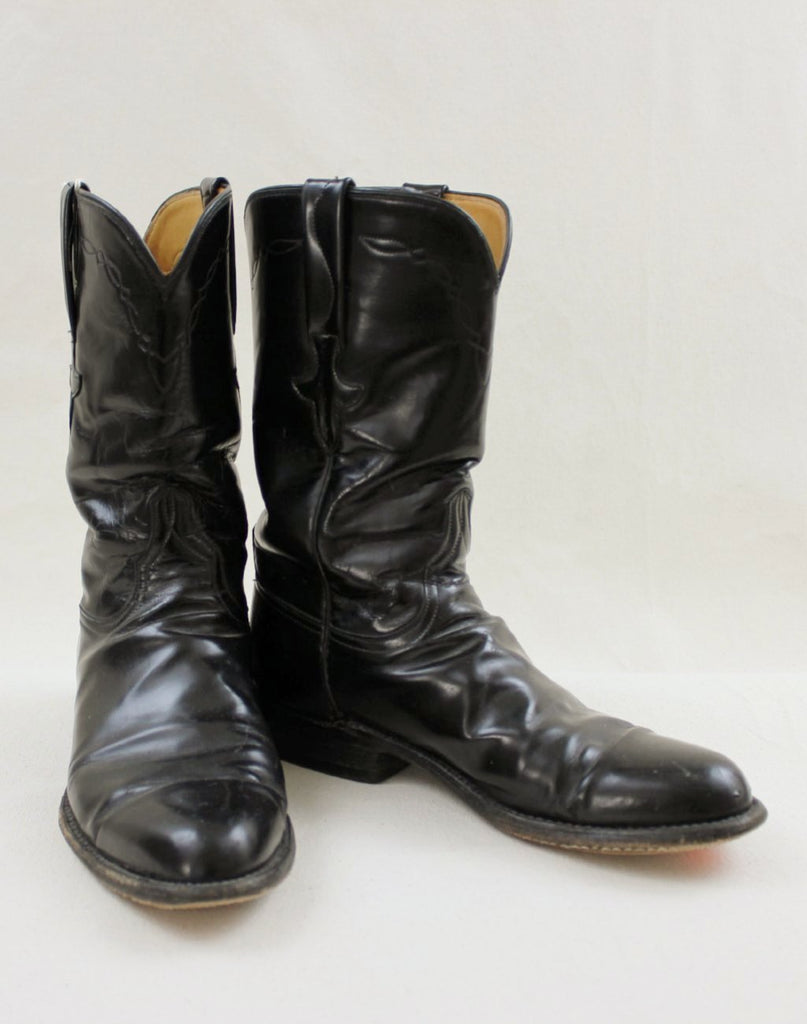 Black Lucchese Boots