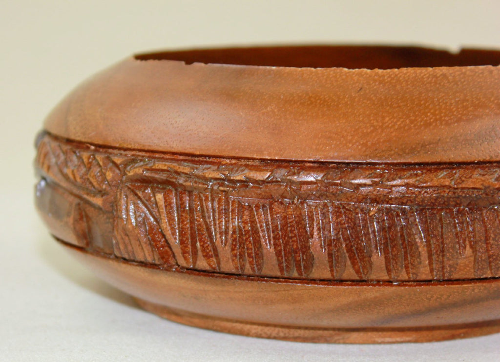Carved wooden bowl