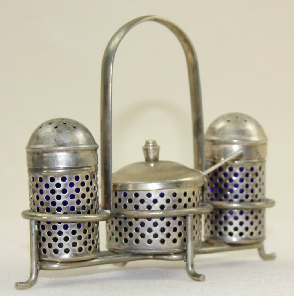 Silver condiment carrier