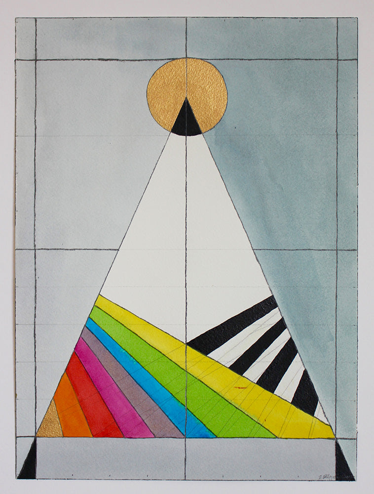 Geometric triangle multicolored