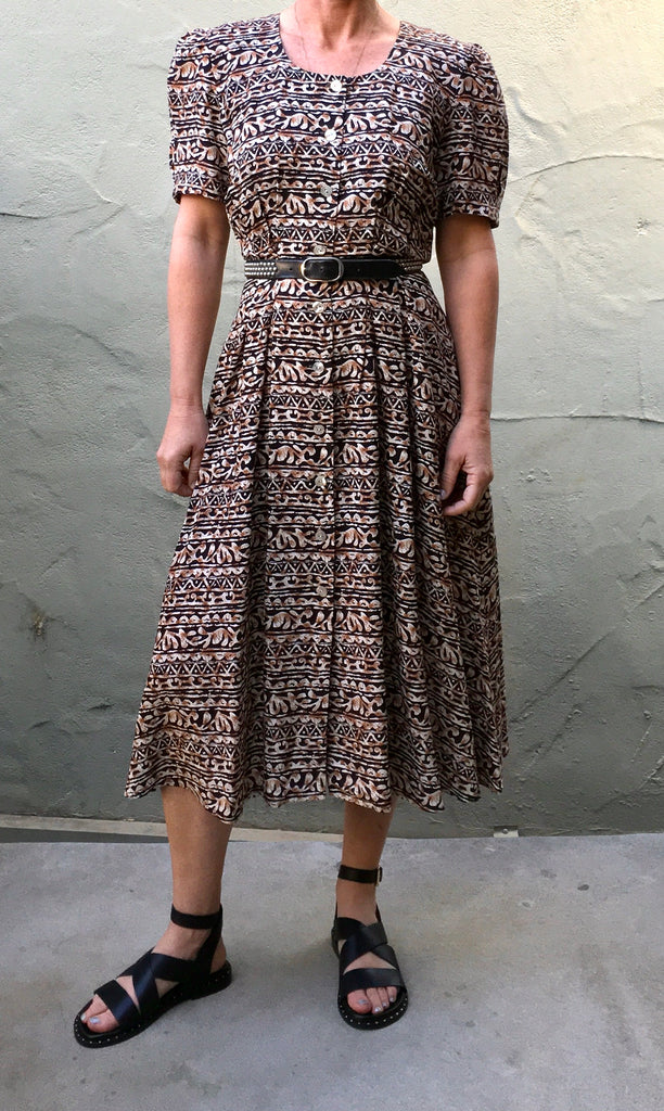 Tribal print Maggie London dress