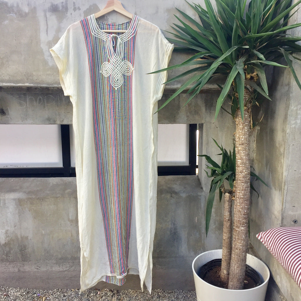 Delicate striped kaftan