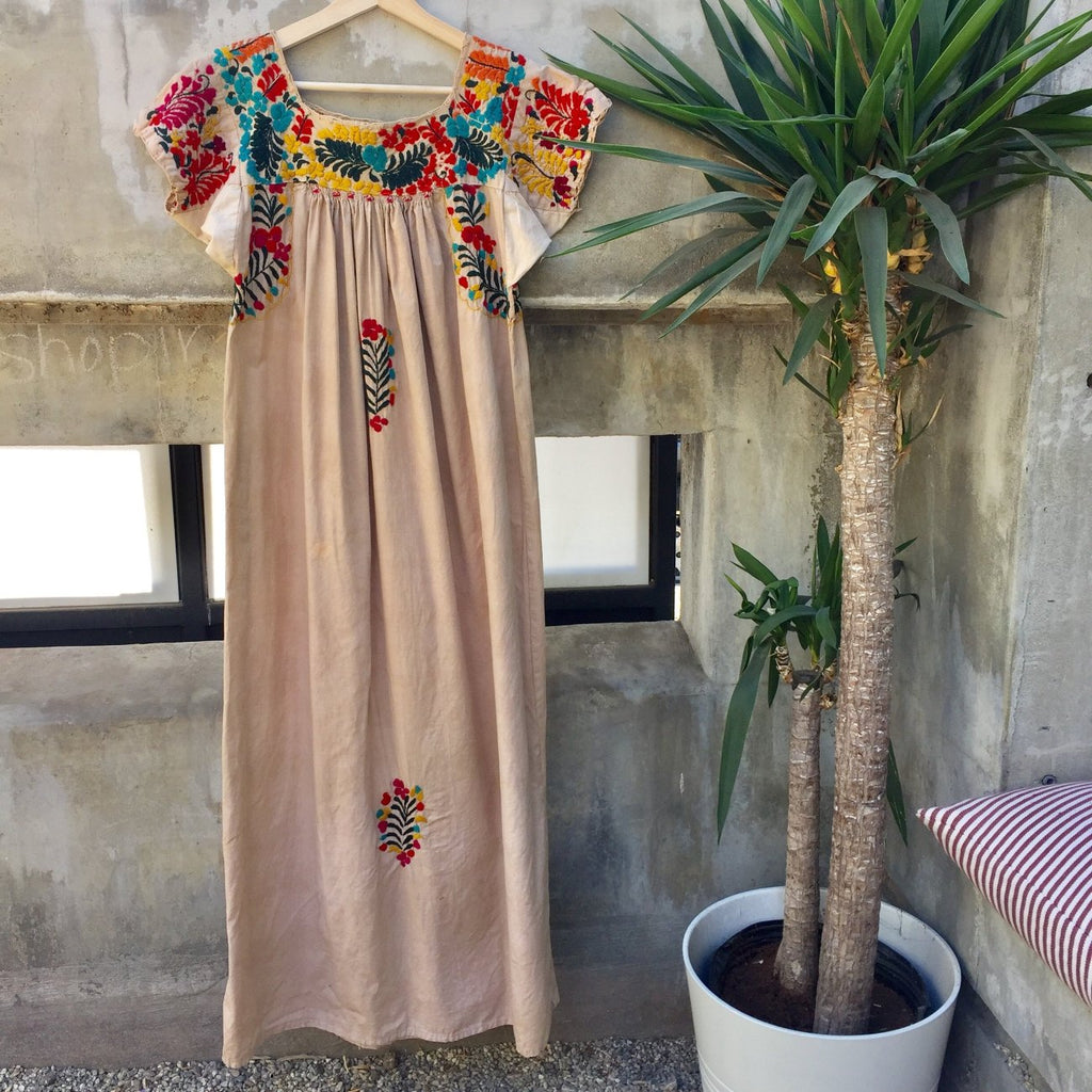 Embroidered Hand Dyed Dress