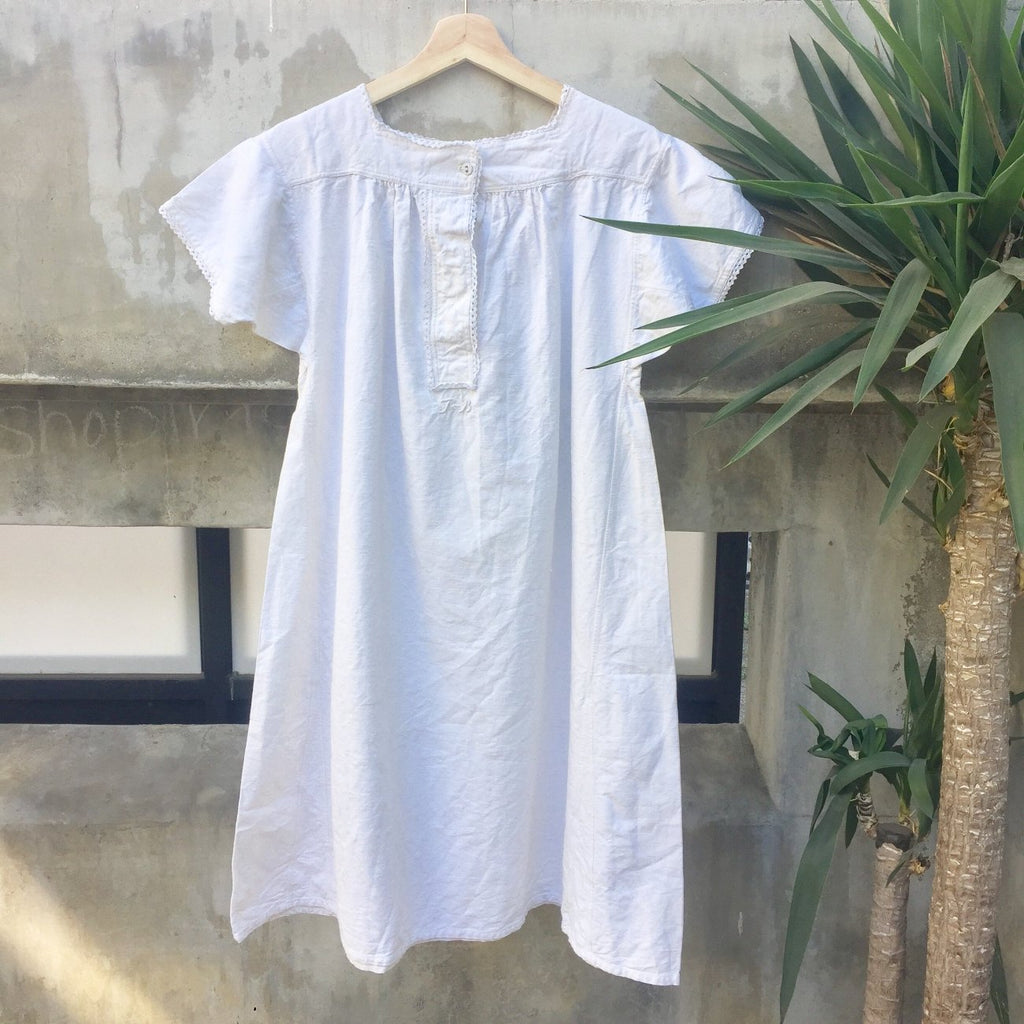 Vintage French Cotton Linen dress