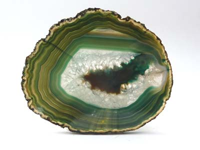 Agate Slice Medium M - Dyed Green