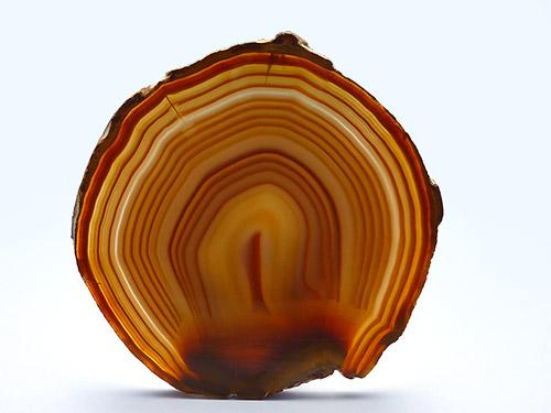 Agate Slice Large Q - Natural