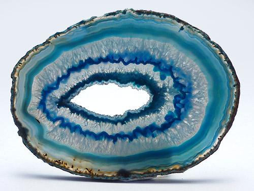 Agate Slice Large X - Dyed Green